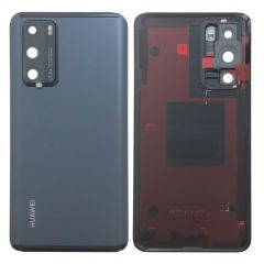 Official Huawei P40 Black Battery Cover with Adhesive - 02353MBJ