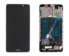 Official Huawei Mate 9 Black LCD Screen & Digitizer with Battery - 02351CNU