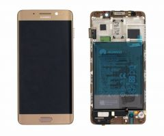 Genuine Huawei Mate 9 Pro (LON-L29) LCD Display Module Gold with Battery - 02351CQV