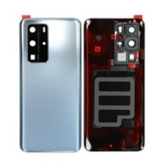 Official Huawei P40 PRO Battery Cover with Adhesive Silver- 02353MNA