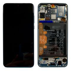 Official Huawei P30 Lite Peacock Blue LCD Screen & Digitizer with Battery - 02352RQA