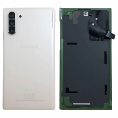 Official Samsung Galaxy Note 10 SM-N970 Aura White Battery Cover with Adhesive - GH82-20528B