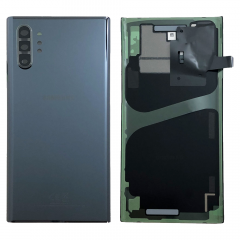 Official Samsung Galaxy Note 10+ SM-N975 Aura Black Battery Cover with Adhesive - GH82-20588A