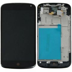 LG Nexus 4 LCD Black With Frame OEM - 5505701312345
