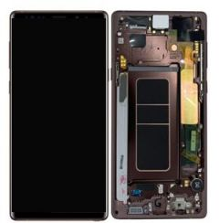 Genuine Samsung Galaxy Note 9 (SM-N960F) lcd with frame in Brown GH97-22269D