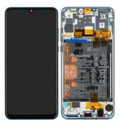 Official Huawei P30 Lite Peacock Blue LCD Screen & Digitizer with Battery 32 Mega Pixel Front Camera - 02352PJP