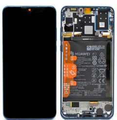 Official Huawei P30 Lite Peacock Blue LCD Screen & Digitizer with Battery New Edition- 02353FQE