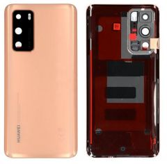 Official Huawei P40 Blush Gold Battery Cover with Adhesive - 02353MGD