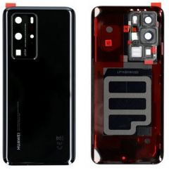 Official Huawei P40 PRO Black Battery Cover with Adhesive - 02353MEL