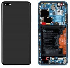 Genuine Huawei P40 Pro Blue LCD Display / Screen + Touch + Battery Assembly - Part no: 02353PJJ