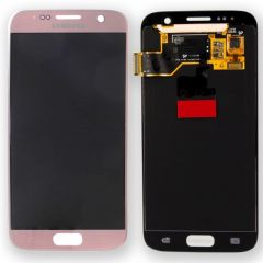 Genuine Samsung Galaxy S7 G930 Pink Gold LCD Screen & Digitizer No LCD Adhesive - GH97-18523E