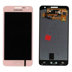 Genuine Samsung SM-A300 Galaxy A3 Complete Lcd with Digitizer Touchpad in Pink- Samsung - GH97-16747E