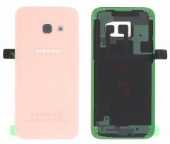 Genuine Samsung Galaxy A3 2017 A320 Pink Gold Glass Rear Battery Cover - GH82-13636D