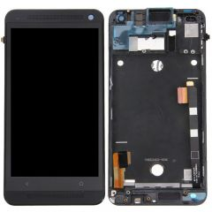 HTC One M7 LCD Display Touch Screen Digitizer Black With Frame OEM - 3260800433