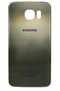 Genuine Samsung Galaxy S6 G920F Gold Glass Rear Battery Cover with Adhesive - GH82-09548C