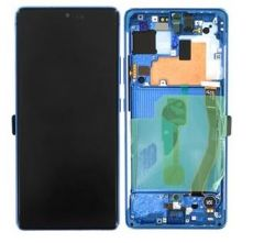 Genuine Samsung S10 Lite (SM-G770F) Blue Complete lcd and touchpad with frame - Part no: GH82-21672C