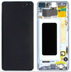 Genuine Samsung Galaxy S10 Plus (G975F) Prism Blue Complete lcd with frame - Part no:GH82-18849C
