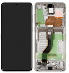 Official Samsung Galaxy S20 SM-G980, S20 5G SM-G981 White LCD Screen & Digitizer - GH82-22123B