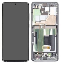 Genuine Samsung Galaxy S20 Ultra (G988) Cosmic Grey Complete lcd - Part no: GH82-22327B OR GH82-22271B