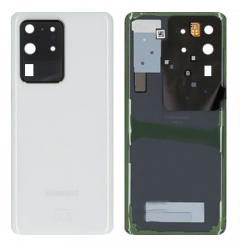 Genuine Samsung Galaxy S20 Ultra (SM-G988B) Back Cover In Cosmic White - Part No: GH82-22217C