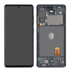 Genuine Samsung Galaxy S20 FE 5G (SM-G781) Complete lcd with frame in Cloud Navy - Part no: GH82-24215A GH82-24214A