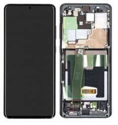 Genuine Samsung Galaxy S20 Ultra SM-G988B Cosmic Black Complete lcd - Part no: GH82-22327A/GH82-22271A