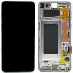 Official Samsung Galaxy S10 G973 Silver LCD Screen & Digitizer - GH82-18850G