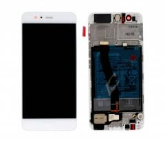 Genuine Huawei P10 Silver\ Silver LCD Screen & Digitizer with Battery 3200mAh - 02351GVS