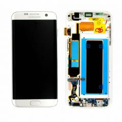 Genuine Samsung Galaxy S7 Edge G935 Silver LCD Screen & Digitizer Complete - GH97-18533B