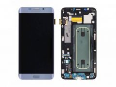 Genuine Samsung Galaxy S6 Edge+ G928F Silver LCD Screen & Digitizer Inc Home Key, Charger Port & Headphone Jack - GH97-17819D