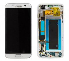 Genuine Samsung Galaxy S7 Edge G935 White LCD Screen & Digitizer Complete - GH97-18533D