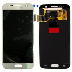 Genuine Samsung Galaxy S7 G930 White LCD Screen & Digitizer No LCD Adhesive - GH97-18523D