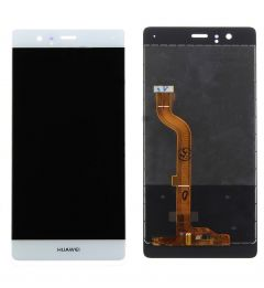 Huawei P9 LCD Touch Screen Assembly-White/Silver OEM - 5516001223598