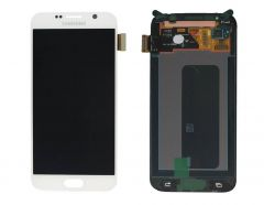 Genuine Samsung Galaxy S6 G920 White LCD Screen & Digitizer - GH97-17260B