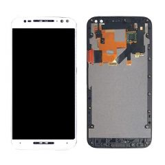 Motorola Moto X Style LCD White With Frame OEM - 5507002234227