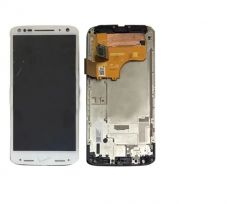 Motorola Moto X Force LCD White With Frame OEM - 5507002234226