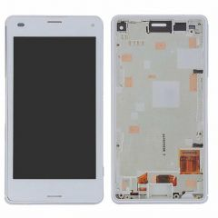 Sony Xperia Z3 Mini / Compact LCD White with Frame OEM - 551242